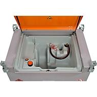 Mobiel tankstation CEMO DT-Mobil PRO PE, 440 l, zonder pomp, snelkoppeling, B 1250 x D 870 x H 1070 mm