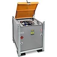 Mobiel tankstation CEMO DT-Mobil PRO PE COMBI 850/100 l Basic, tank voor diesel en AdBlue®, elektrische pomp Cematic 72, 230 V, B 1300 x D 1150 x H 1300 mm