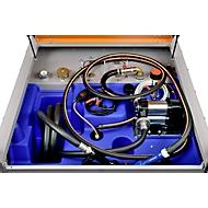 Mobiel tankstation CEMO DT-Mobil PRO ST COMBI 980/200 Basic, Cematic Duo elektrische pomp 24/12 V, 980 l dieseltank, 200 l extra tank voor AdBlue®, B 1300 x D 1150 x H 1300 mm