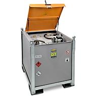 Mobiel tankstation CEMO PRO ST 980 Basic, 980 l, elektrische pomp Cematic 72, 230 V, automatisch mondstuk, B 1300 x D 1150 x H 1300 mm