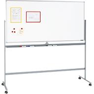 Mobiel whiteboard, met draaibaar bord, met 4 zwenkwielen, 900 x 1200 mm