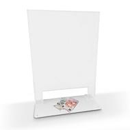 Mobiele scheidingswand in acrylglas, B 400 x H 610 mm, met bevestigingsmateriaal, transparant