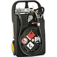 Mobiele tankinstallatie Benzine-trolley, 60 l, handpomp, slang 2,7 m