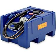 Mobile Tankstelle CEMO Blue-Mobil EASY, mit Membranpumpe CEMATIC BLUE 12 V, 125 l Tank für AdBlue®, B 800 x T 600 x H 450 mm