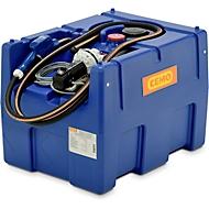 Mobile Tankstelle CEMO Blue-Mobil EASY, mit Membranpumpe CEMATIC BLUE 12 V, 200 l Tank für AdBlue®, B 800 x T 600 x H 590 mm