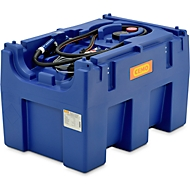 Mobile Tankstelle CEMO Blue-Mobil EASY, mit Membranpumpe CEMATIC BLUE 12 V, 430 l Tank für AdBlue®, B 1160 x T 760 x H 730 mm
