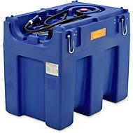 Mobile Tankstelle CEMO Blue-Mobil EASY, mit Membranpumpe CEMATIC BLUE 12 V, 600 l Tank für AdBlue®, Kranösen, B 1160 x T 800 x H 1020 mm
