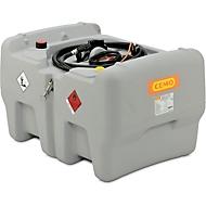 Mobile Tankstelle CEMO DT-Mobil Easy 440 l, Schnellkupplung und Klappdeckel, Polyethylen, einwandig, B 1180 x T 800 x H 710 mm