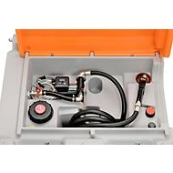 Mobile Tankstelle CEMO DT-Mobil Easy Basic, Elektropumpe Cematic 230 V, Dieseltank 980 l, B 1270 x T 1070 x H 1120 mm
