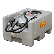 Mobile Tankstelle CEMO DT-Mobil Easy, Elektropumpe CENTRI SP30, Automatik-Zapfpistole, 125l, Polyethylen, einwandig, B 800 x T 600 x H 450 mm
