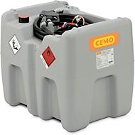 Mobile Tankstelle CEMO DT-Mobil Easy Elektropumpe CENTRI SP30, Automatik-Zapfpistole, 210 l, Polyethylen, einwandig, B 785 x T 595 x H 685 mm