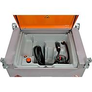 Mobile Tankstelle CEMO DT-Mobil PRO PE Basic, 440 l, Elektrompumpe 12 V, 40 l/min, Automatik-Zapfpistole, B 1250 x T 870 x H 1070 mm