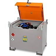 Mobile Tankstelle CEMO DT-Mobil PRO PE COMBI 440/50 l Basic, Zusatztank für AdBlue®, Elektropumpe 12 V, B 1250 x T 870 x H 1070 mm