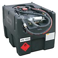 Mobile Tankstelle CEMO KS-Mobil EASY, mit Handpumpe, 190 l Benzintank, Polyethylen, ATEX, B 800 x T 600 x  H 590 mm