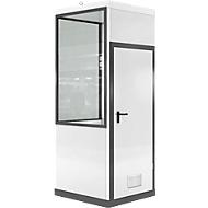 Mobiles Raumsystem WSM, L 1045 x B 1045 mm, für Innen, ohne Fußboden, grauweiß RAL 9002/anthr.grau RAL 7016