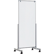 Mobiles Whiteboard MAULpro easy2move, beidseitig, magnethaftend, Doppel-Lenkrollen, 750 x 1800 mm
