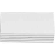 Moderationskarten, rechteckig, 95 x 205 mm, 250 Stück, weiß