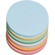 Moderationskarten, rund, ø 95 mm, 250 Stück, farbsortiert