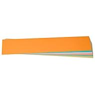 Moderationskarten, Titelstreifen, 95 x 450 mm, 100 Stück, farbsortiert