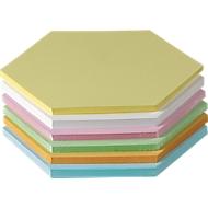 Moderationskarten, wabenförmig, Kantenlänge 95 mm, 250 Stück, farbsortiert