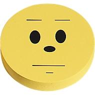 Moderationskarten, Wertungssymbol, neutral, ø 93 mm, 100 Stück, gelb
