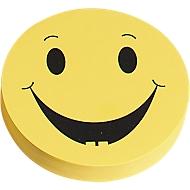Moderationskarten, Wertungssymbol, positiv, ø 93 mm, 100 Stück, gelb