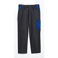 Montana broek met tailleband DUO, antraciet/blauw, m. 46
