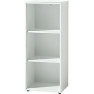 MONTERIA boekenkast, 3 OH, spaanplaat, B 400 x D 370 x H 1200 mm, wit