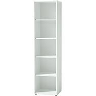 MONTERIA boekenkast, 5 OH, B 500 x D 370 x H 1960 mm, wit