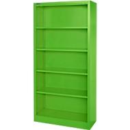 MS iCOLOUR boekenkast,  plaatstaal, 5 OH, B 950 x D 400 x 1935 mm, appelgroen RAL6018
