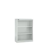 MS iCONOMY stalen boekenkast, 3 OH, B 800 x D 400 x H 1215 mm, lichtgrijs RAL 7035