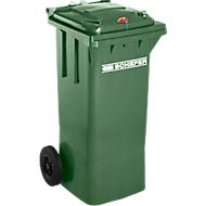 Mülltonne GMT, 80 l, Schwerkraftschloss, grün