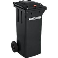 Mülltonne GMT, 80 l, Schwerkraftschloss, schwarzgrau