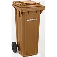 Mülltonne PRO 60 WAVE, 60 l, fahrbar, braun