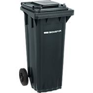 Mülltonne PRO 60 WAVE, 60 l, fahrbar, schwarzgrau