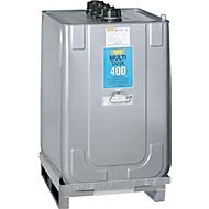 MULTI-smeermiddeltank van HDPE voor olie, met bodem pallet, 400 liter