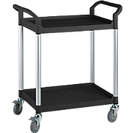 Multifunctionele etagewagen, 2 etages, zwart