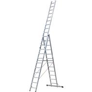 Multifunctionele ladder 3-delig, 3x6 sporten