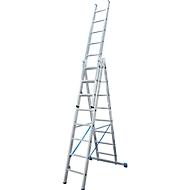 Multifunctionele ladder van aluminium 3 x 8 sporten