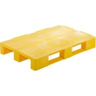 Multifunctionele pallets, van HDPE integrale schuimrubber technologie, 1200 x 800 mm, geel, 5 stuks