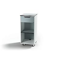 Multifunktionswagen DURABLE Quadro® Basic, mit Rollen, 1 Schublade, verstellbarer Zwischenboden, B 450 x T 450 x H 1000 mm, blau