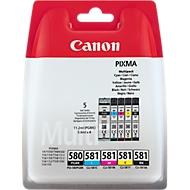 Multipack 4 Stück Canon Tintenpatrone PGI-580/CLI-581 C/M/Y/K, original