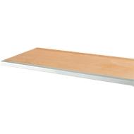 Multiplex-Arbeitsplatte mit Stoßbrett und vorderer Stahlkante, 1500 x 700 mm
