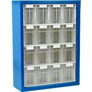 MultiStore magazijnhangkasten, 665 x 250 x 900 mm, 16 bakjes, gentiaanblauw