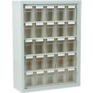 MultiStore magazijnhangkasten, 665 x 250 x 900 mm, 25 bakjes (A), lichtgrijs
