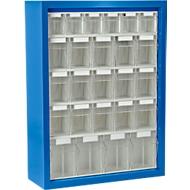 MultiStore magazijnhangkasten, 665 x 250 x 900 mm, 25 bakjes (B), gentiaanblauw