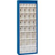 MultiStore magazijnkast, 31 bakjes, gentiaanblauw