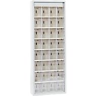 MultiStore magazijnkast, 32 bakjes, lichtgrijs