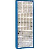 MultiStore magazijnkast, 56 bakjes, gentiaanblauw