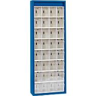 MultiStore Magazinschrank, 32 Behälter, enzianblau
